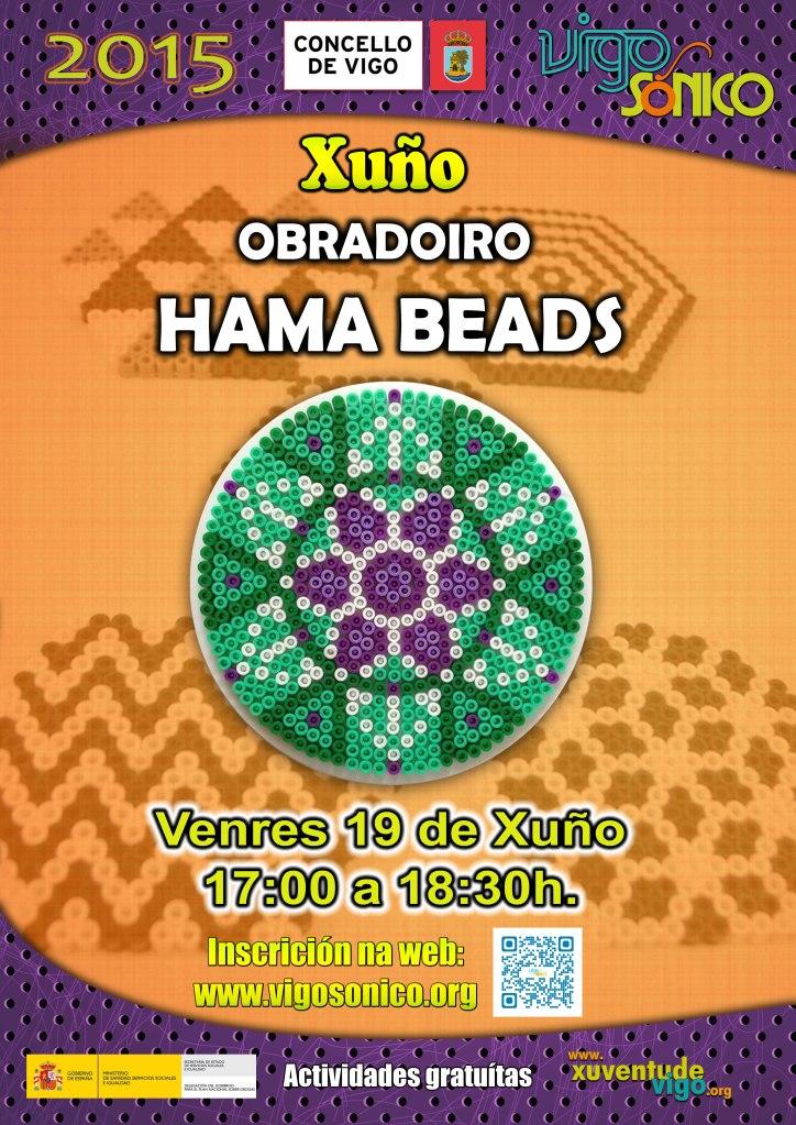Cartaz Obradoiro Hama Beads