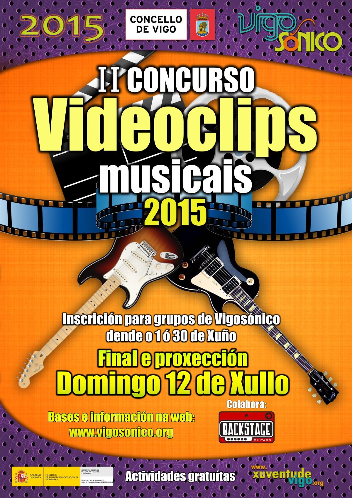 Vídeos participantes no II Concurso VideoClips musicais VigoSónico2015.