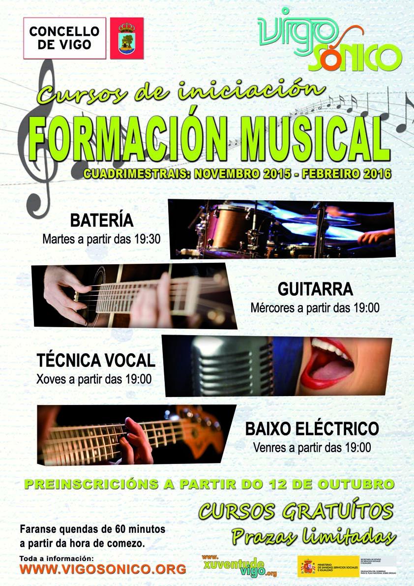 Cursos de Formación Musical: cuadrimestre novembro 2015 a febreiro2016.