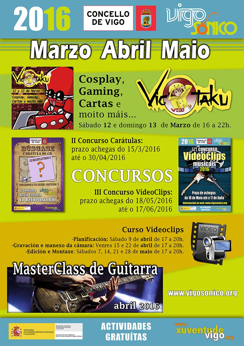 Programación VigoSónico de Marzo a Maio de2016