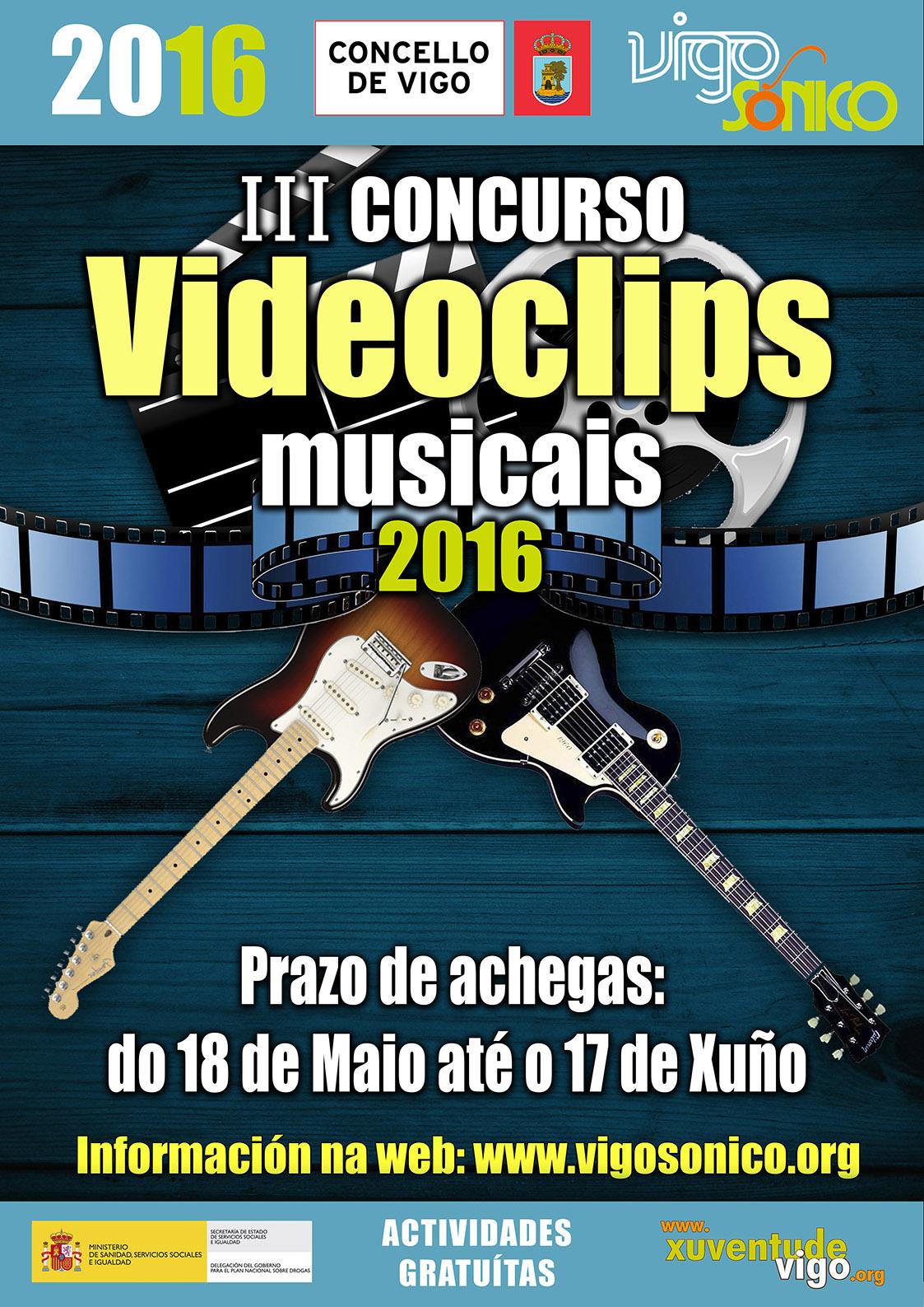 Concurso VideoClips musicais VigoSónico 2016:votacións.