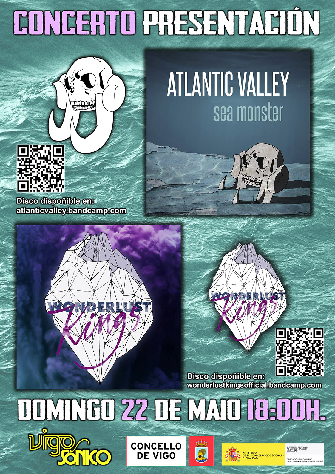 22 de Maio presentación dos discos de Atlantic Valley e de Wonderlust Kings