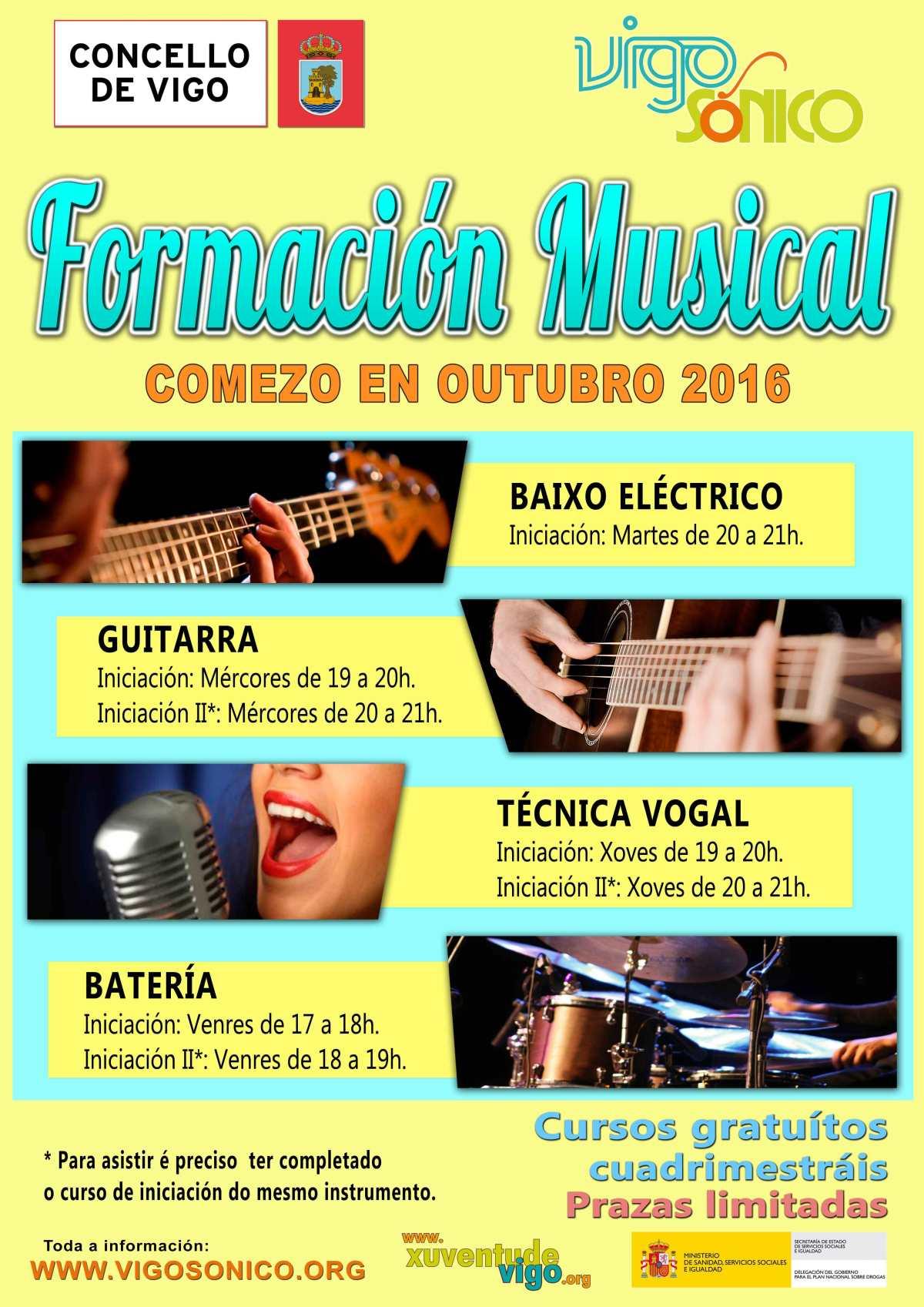 Cursos de Formación Musical: comezo en outubro2016.