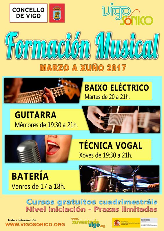 Cursos de Formación Musical: cuadrimestre marzo a xuño2017.