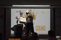 La Cloaka Sound recollendo o 3º premio.