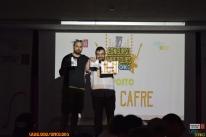 Licor Cafre recollendo o 1º premio.