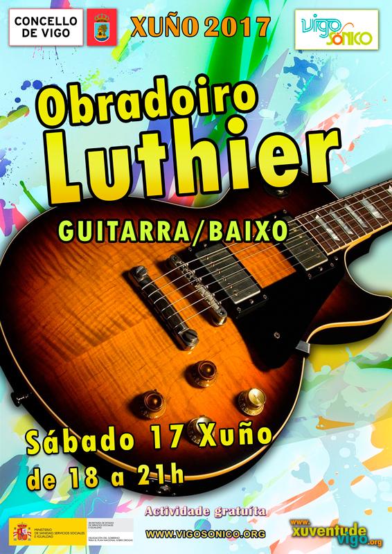 Obradoiro Luthier: guitarra ebaixo.