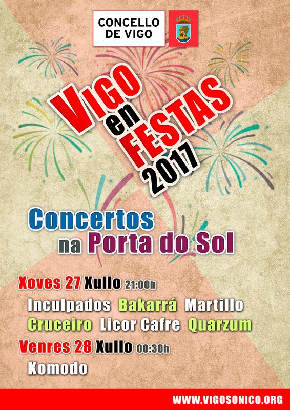 Vigo en Festas: Concertos Porta Sol2017