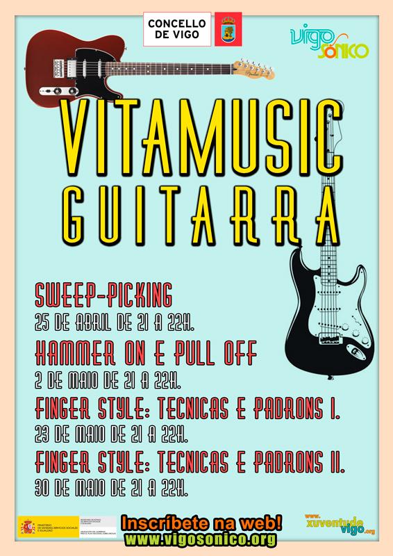 Formación gratuíta guitarra. Vitamusic en abril e maio de2018