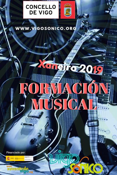 Formación musical gratuíta de xaneiro a xuño do2019