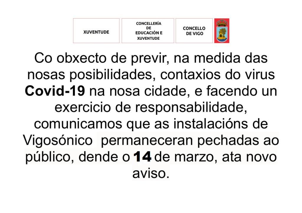 Peche preventivo co obxecto de previr contaxios do virusCovid-19